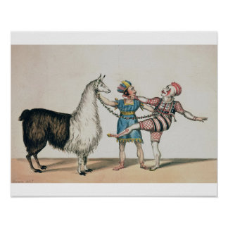Grimaldi and the Alpaca, in the Popular Pantomime Poster