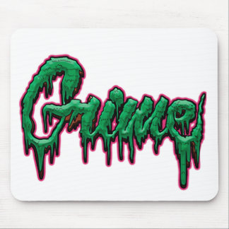 Grime text mouse pad