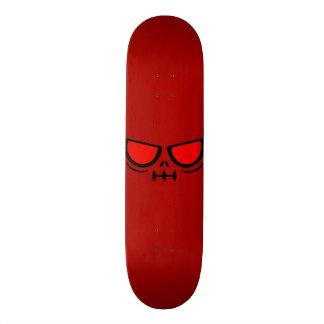 GrimFace™ Dark Red Deck Skate Board