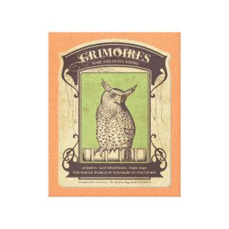 Grimoires Owl Canvas Print