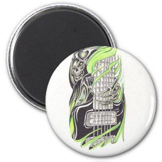 GrimReaper 6 Cm Round Magnet