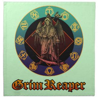 grimreaper and horoscope 2 cloth napkin