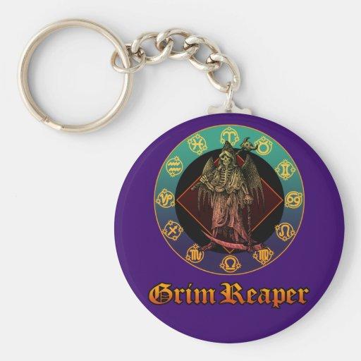 grimreaper and horoscope 2 key chain