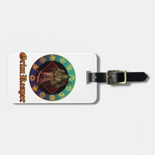 grimreaper and horoscope 2 luggage tags