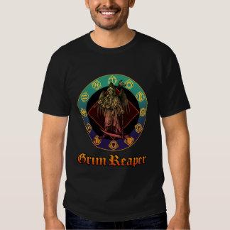 grimreaper and horoscope 2 t-shirt