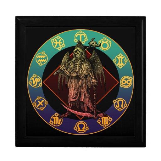 grimreaper and horoscope jewelry box