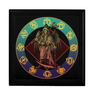 grimreaper and horoscope large square gift box