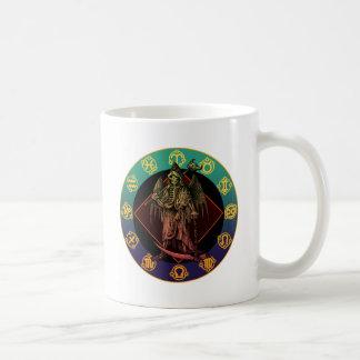 grimreaper and horoscope basic white mug