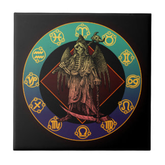 grimreaper and horoscope small square tile