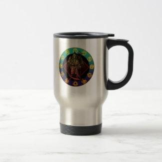 grimreaper and horoscope stainless steel travel mug