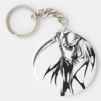 GrimReaper Basic Round Button Key Ring