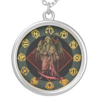 Grimreaper Round Pendant Necklace