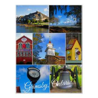 Grimsby Ontario Collage Poster