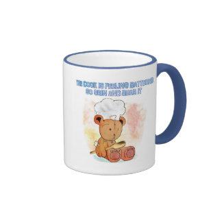 grin and bear chef's mug