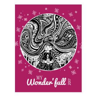 Grincheux Angel Wishes | Purple Onion Postcard