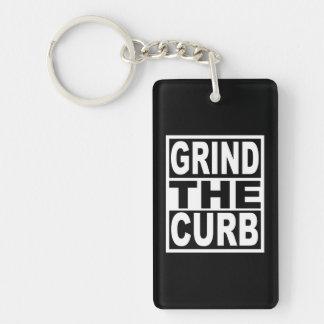 Grind the Curb Key Ring