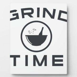 GRIND TIME PLAQUE