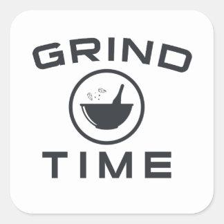 GRIND TIME SQUARE STICKER
