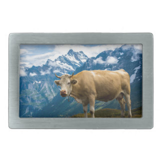 Grindelwald Cow - Bernese Alps - Switzerland Belt Buckle