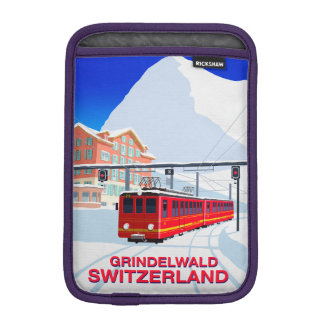 Grindelwald Ski Resort ipad mini sleeve
