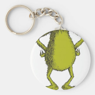 gringo with no head basic round button key ring
