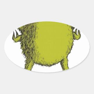 gringo with no head oval sticker