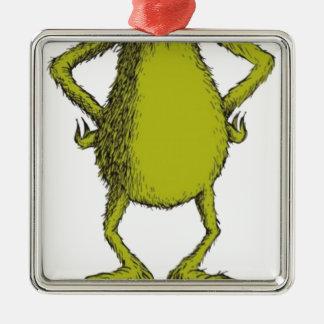 gringo with no head Silver-Colored square decoration