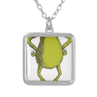 gringo with no head silver plated necklace