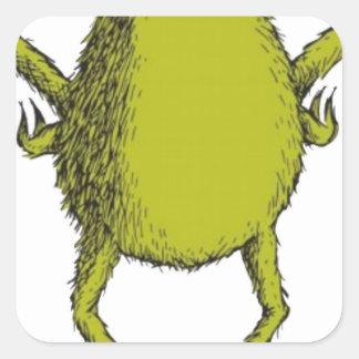 gringo with no head square sticker