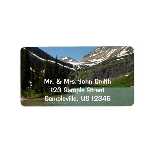 Grinnell Lake at Glacier National Park Address Label