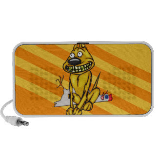 Grinning Dog and Dead Chicken Portable Speaker
