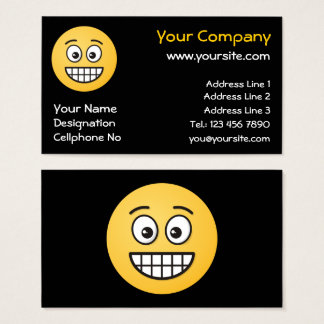 Grinning Face with Open Eyes Business Card
