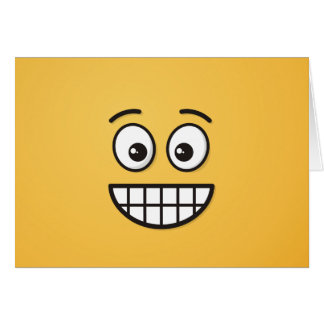 Grinning Face with Open Eyes Card