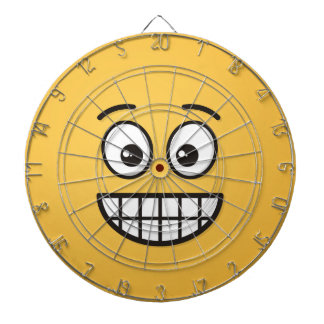 Grinning Face with Open Eyes Dartboard