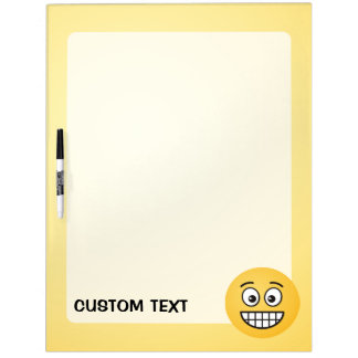 Grinning Face with Open Eyes Dry Erase Board
