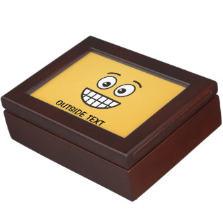 Grinning Face with Open Eyes Keepsake Box