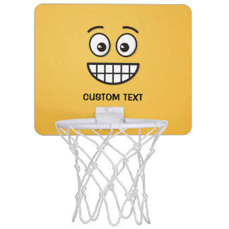 Grinning Face with Open Eyes Mini Basketball Hoop