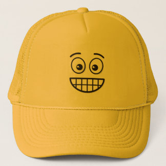 Grinning Face with Open Eyes Trucker Hat