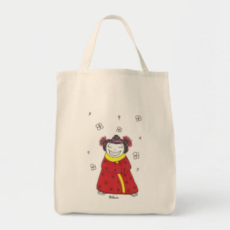Grinning Girl Tote Bag