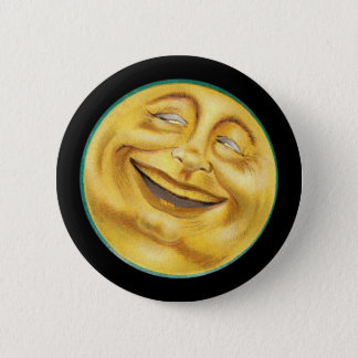 Grinning Moon on Halloween 6 Cm Round Badge