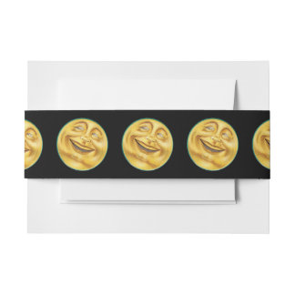 Grinning Moon on Halloween Invitation Belly Band
