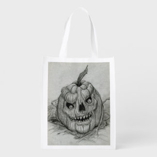 Grinning Pumpkin Trick or Treat Candy Bag