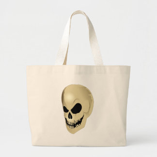 grinning skull jumbo tote bag