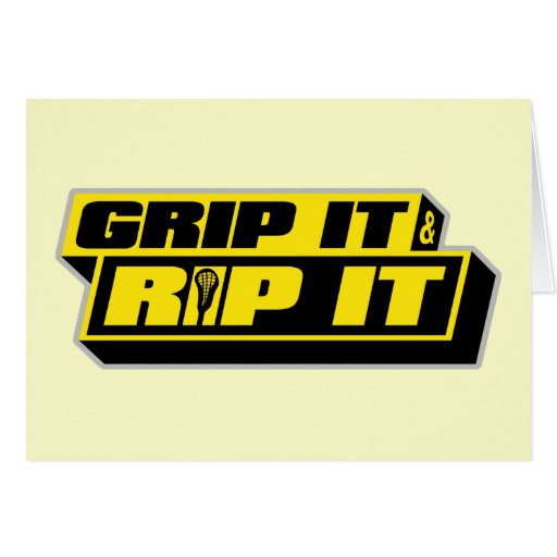 Grip It and Rip It Greeting Card