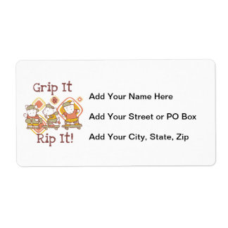 Grip It and Rip It Skateboarding Shipping Label