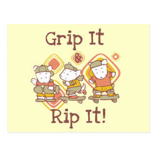 Grip It and Rip It Skateboarding Postcard