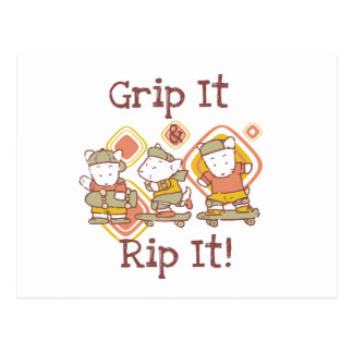 Grip It and Rip It Skateboarding Postcard