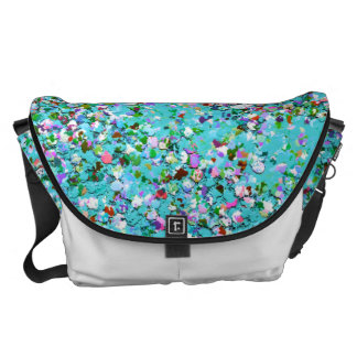 Grit Glitter Fashion Multicolor Painting #10 Messenger Bag