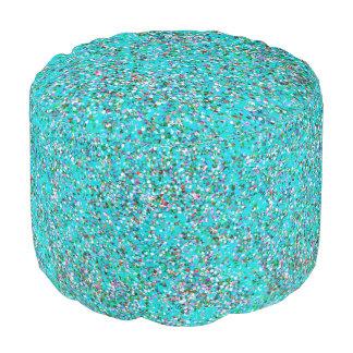 Grit Glitter Fashion Multicolor Painting #10 Pouf