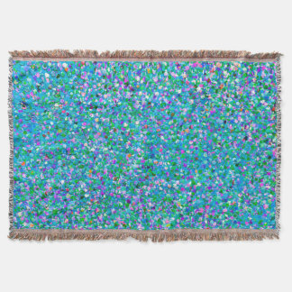 Grit Glitter Fashion Multicolor Painting #2 Throw Blanket